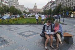 瓦茨拉夫广场 库存图片