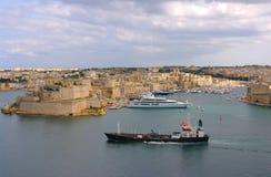 瓦莱塔、马耳他的首都和地中海 库存照片