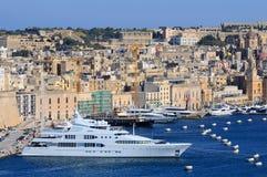 瓦莱塔口岸在马耳他 库存图片