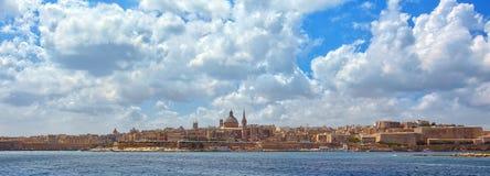 瓦莱塔地平线,马耳他 库存图片
