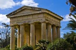 瓦莱塔纪念碑,马耳他 图库摄影