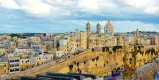 瓦莱塔美好的地平线,马耳他地标,旅行欧洲 库存照片