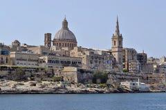 瓦莱塔,盛大港口,马耳他 免版税库存图片