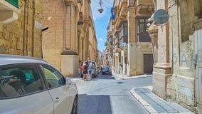 瓦莱塔,马耳他街道  股票录像