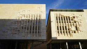 瓦莱塔,马耳他-新的议会 免版税图库摄影