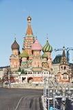 瓦西里莫斯科` s红场的有福的大教堂 免版税库存图片
