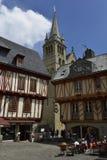 瓦讷,布里坦尼,法国的历史中心 免版税库存照片