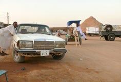 瓦迪哈勒法,苏丹- 2008年11月19日:城市街道 免版税库存图片