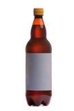瓶与空白标签的啤酒 免版税库存图片