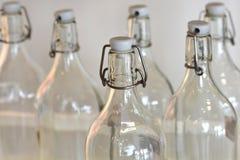 瓶倒空玻璃 免版税图库摄影