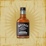瓶减速火箭的威士忌酒 库存照片