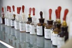 瓶化工玻璃实验室 库存图片