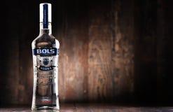 瓶博尔斯伏特加酒 免版税图库摄影