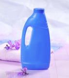 瓶去膜剂污点 免版税库存照片