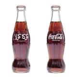 瓶可口可乐等高 库存照片
