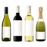 瓶向量酒 库存例证