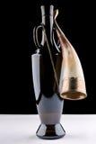 瓶和垫铁酒的 免版税库存图片