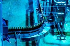瓶啤酒生产 免版税图库摄影