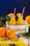 瓶图象查出的汁液桔子 免版税图库摄影