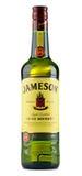 瓶在白色隔绝的詹姆森爱尔兰威士忌酒 免版税库存照片