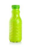 瓶塑料酸奶 免版税图库摄影