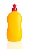 瓶塑料黄色 库存照片
