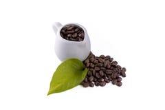 瓶子咖啡豆 库存图片