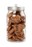 瓶子巧克力曲奇饼 免版税库存照片