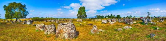 瓶子平原  老挝 全景 免版税库存照片
