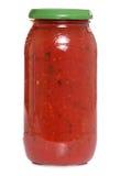 瓶子意大利酱 库存照片