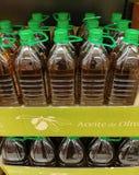 瓶子橄榄油 库存照片