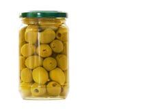 瓶子橄榄 免版税图库摄影