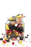 瓶子用糖果 免版税库存照片