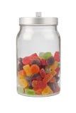 瓶子胶粘的糖果 免版税库存照片