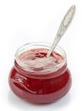 瓶子草莓酱 库存图片