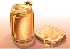 瓶子蜂蜜蜂 免版税库存照片