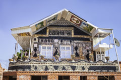 瓶房子在Gyandzha 免版税库存图片