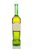 瓶未贴标签的酒 免版税库存照片