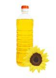 瓶查出的油向日葵 库存照片