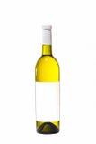 瓶查出的白葡萄酒 免版税图库摄影