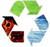 瓶概念塑料回收绳索附加的麻线水 免版税库存图片