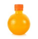 瓶橙汁 免版税图库摄影
