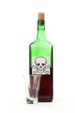 瓶毒物 免版税库存照片