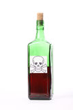 瓶毒物 库存照片