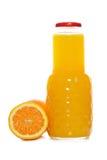 瓶汁液桔子 免版税库存照片