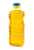 瓶油塑料蔬菜 免版税库存图片