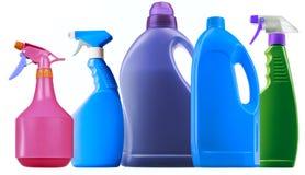 瓶洗涤剂浪花 库存图片