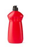 瓶清洁液体塑料红色 库存照片