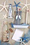 瓶灯塔海运船星形 库存图片