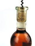 瓶玫瑰酒红色 免版税库存图片